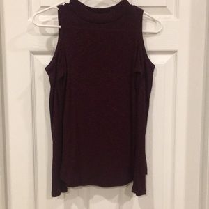 Maroon long sleeve with cutout shoulders